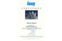 KNAUF - certifikát na montáž