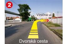 2 - Odbočka z Dvorskej cesty na Viničnú
