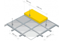 KAZETOVÝ STROP - konštrukcia T24 - kazety 600x600