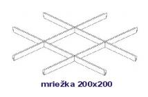 Model s mriežkou 200x200