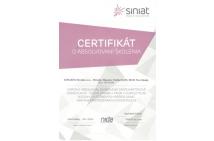 SINIAT - certifikát na montáž