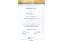 LAFARGE - certifikát na montáž