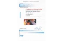 KNAUF - certifikát na montáž protipožiarnych systémov