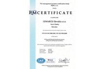Certifikát ISO - EN