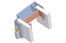 Zárubňa na sadrokartón - detail napojenia profilu