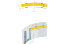 PRIEČKA - dvojité opláštenie s izoláciou do oblúku