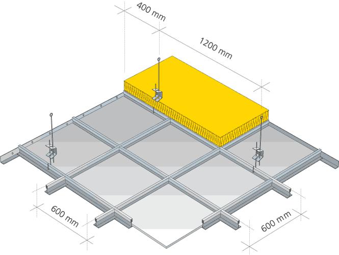Kazetový strop montáž